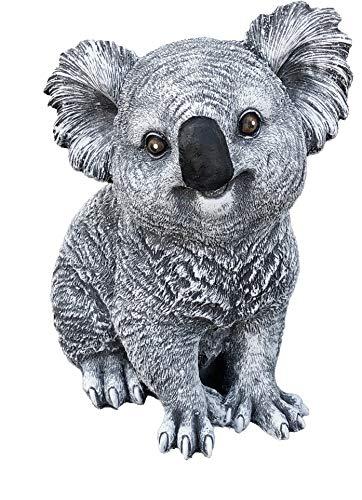 Steinfigur Koala Bär, Frost- und wetterfest bis -30°C, massiver Steinguss