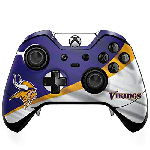 Skinit Decal Gaming Skin for Xbox One Elite Controller - Officially Licensed NFL Minnesota Vikings Design