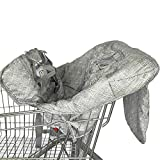 Freedomanoth Shopping Cart Cover For Baby Portable 2-in-1 Child Highchair Cover Mat Baby Trolley Protector Seat Cushion Baby High Chair Dining Chair Cushion Protective Travel Portable Mat