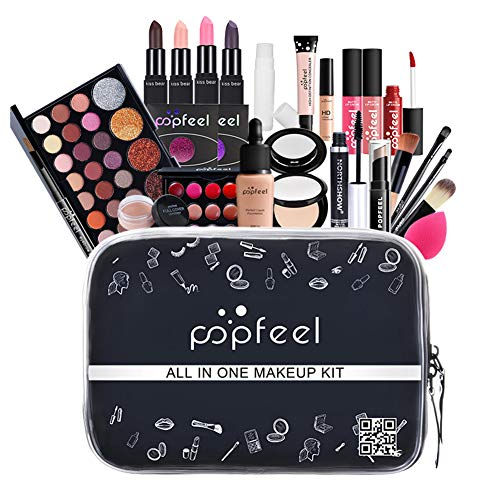 kelihood Alles IN EINEM Make-up-Set Anfänger Einschließlich Make-up-Pinsel-Set Make-up-Set Lippenstift-Set Mehrfarbiger Lidschatten Komplettes Set Make-up