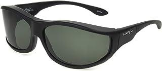 نظارات شمسية فوستر غرانت ماللوي بيضاوية مستقطبة لون أسود مطاطي، 79.2 ملم