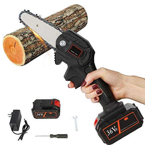 Gigilli 36V Mini Chainsaw, 4-Inch Cordless...