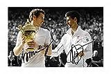 Andy Murray & Novak Djokovic Signiert Autogramme 21cm x