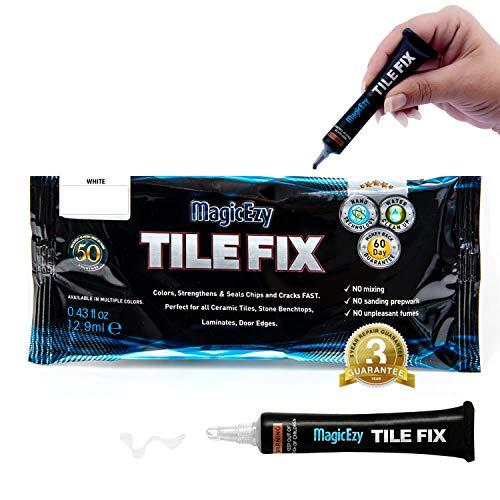MagicEzy Tile Fix: Farbiger Fliesenfüller repariert Schäden in Sekunden. (Weiß)