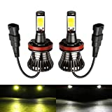 Partsam White High Power 80W 9005 HB3 9040 1200Lumen DRL Daytime Running Bulbs Lights Replacement for Acura TL 2007 2008 2009 2010 2011 2012