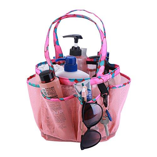 Suszian Opbergtas, Badkamer PVC Mesh Douche Caddy Tote Bag Opknoping Toilettas en Bad Organizer voor Shampoo Conditioner Zeep Body Douche Borstel, Shampoo, Kids Badkuip Speelgoed