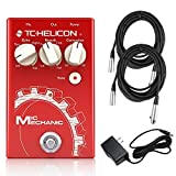 TC Helicon Mic Mechanic 2 Vocal Effects Processor Bundle with (2) 20' XLR Cables and 9V Power Supply