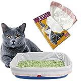 BYYX Paquet de 10 sacs à litière pour chat Cordons pour litière pour chat Doublure pour animaux de compagnie (paquet de 10, grand)