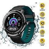 NACATIN Montre Connectée, Bracelet Connecté Bluetooth Smartwatch IP68 Etanche Fitness Bluetooth 4.2 pour Le Sport Android iPhone iOS (Vert et Rouge)