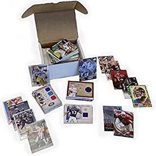 NFL Football Card Relic Jersey Autograph Hit Box w/ 300+ Cards & 3 Relic Autograph or Jersey Cards Per Box