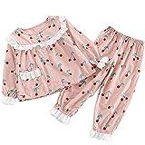 Spring Kids Pyjamas Set Cherry Strawberry Printing Pijamas para niños Baby Girl Ropa de Dormir Pijamas de Manga Larga Niños