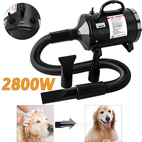 Grandma Shark 2800W Pet Water Blower, Pet Hair Dryer with Hose, 3 Optional Nozzles