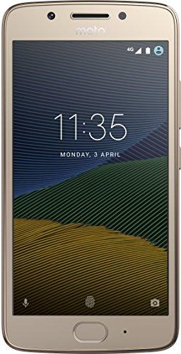 Motorola XT1671 Smartphone Moto G5 color Dorado. Double SIM, Desbloqueado Nacional