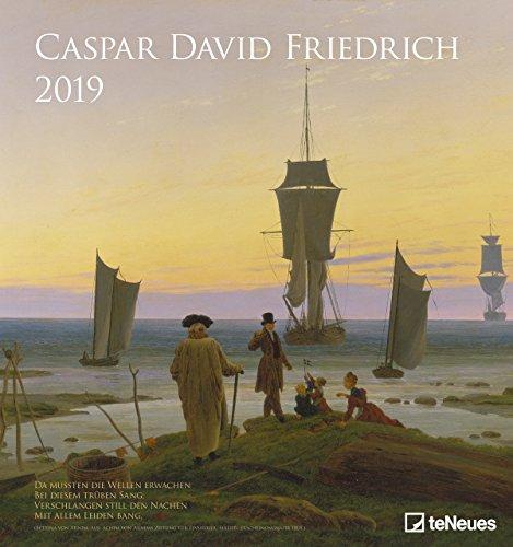 Caspar David Friedrich - Kalender 2019 - teNeues-Verlag - Kunstkalender - Wandkalender mit frühromantischen Gemälden und Gedichten - 45 cm x 48 cm