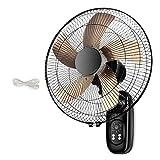 WXZX Ventilador De Pared Ventiladores Pared con Mando,con Temporizador|con Inclinación Regulable|5 Aspas,Sacudiendo La Cabeza del Ventilador del Restaurante 60W