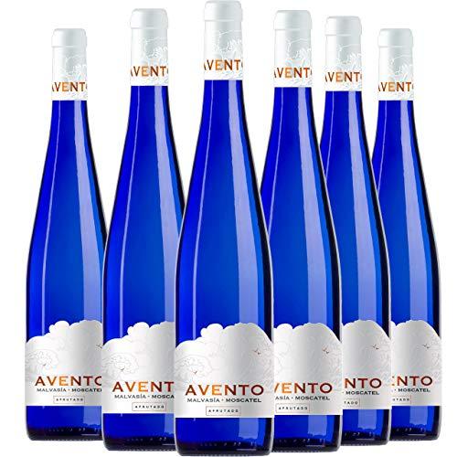 Avento Malvasía Moscatel Vino Blanco Afrutado 6 Botellas - 750 ml