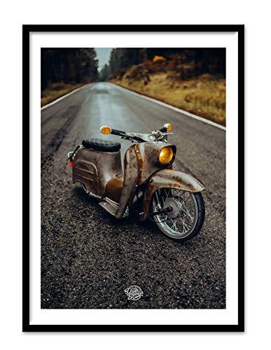 DUB SPENCER low KR 51 rusty XL A2 Hochglanz Poster Nonnenstuhl DDR Moped