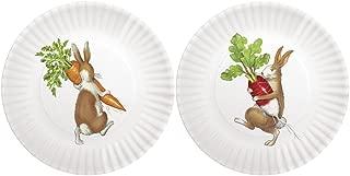 Mary Lake-Thompson Rabbits 7.5-inch Melamine Plates, Set of 4