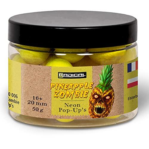 Radical Pineapple Zombie Neon Pop Ups Boilies-Cebo para Pesca de Carpa, Amarillo, 50 g