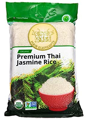 Four Elephants Premium Thai Jasmine Rice Certified Non-GMO