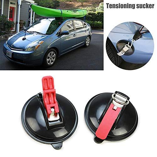 Zuignap voor autodak, maximale belasting 10 kg met S-haken, set met 2 zuignappen, houder voor de auto, stoffen gordijnen voor bagage