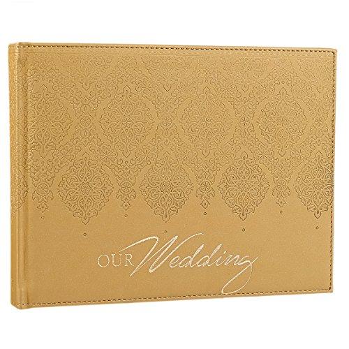 """Gold Silken """"Our Wedding"""" Guest Registry Book"""