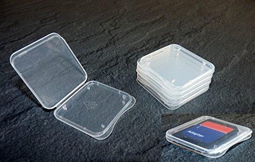 ikarex-shop 5 Stück Schutzhülle für SD Speicherkarte (Für SD Karte (Extra Flach))