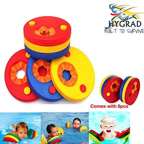 HYGRAD 6 Pcs Swim Discs EVA Foam Arm Bands Float For Swimming Baby Kids Children...