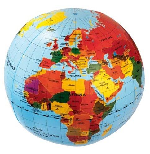 Caly 704019 - Aufblasbarer Globus 50 cm