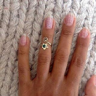 anello per le nocche d'argento - anello midi - anello del dito superiore - anello del polsino - anello regolabile - anello...