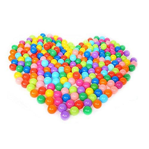 60 Colorful boule Fun Balle en plastique souple Océan Balle bébé Kid Jouet Jouet de Bain Pit