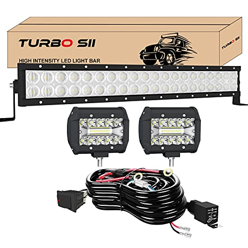 TURBO SII 22 Inch LED Light Bar 5D 120W Flood Spot Combo Beam Offroad Driving...