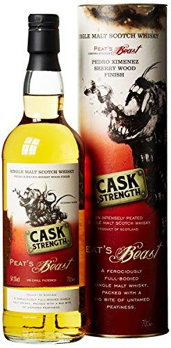 Peat's Beast Cask Strength Pedro Ximenez Sherry Wood Finish mit Geschenkverpackung (1 x 0.7 l)