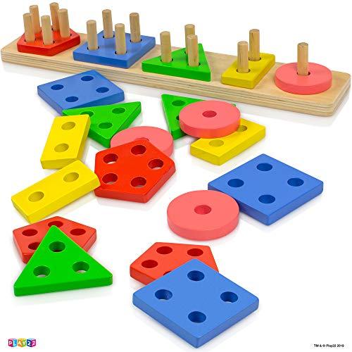 Play22 Shape Sorter Color Wooden...
