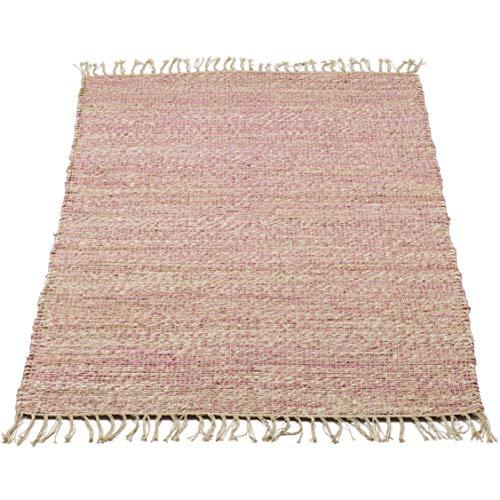 Kidsdepot Kinderteppich Jute rosa 70 x 140 cm Teppich