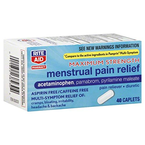 Rite Aid Menstrual Pain Relief, Maximum Strength - 40 Caplets | Menstrual Cramps Relief