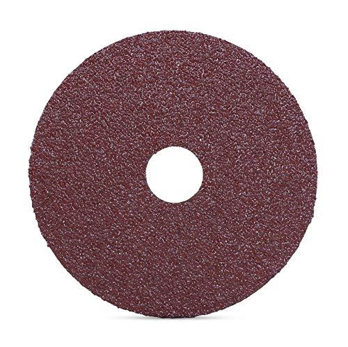 "BHA Aluminum Oxide Resin Fiber Sanding and Grinding Discs, 5"" x 7/8"", 80 Grit - 25 Pack"