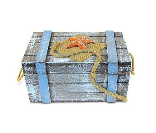 Puzzled Beach Large Jewelry Box Handcrafted Wooden Nautical Accessories Storage Decor - Decorative Vintage Novelty Memory Keepsake Ultimate Kitchen Accents - Unique Ocean Theme Luggage - Item 9444
