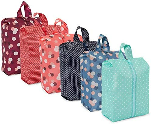 Waterproof Shoe Storage Travel Bags with Handles 6 Colors 6 Pack product image