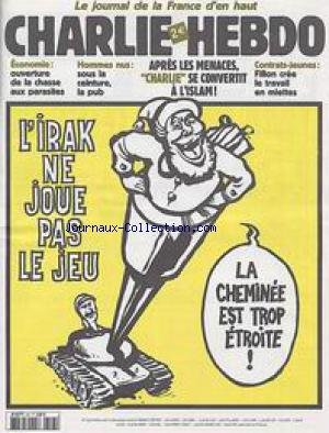 CHARLIE HEBDO [No 547] du 11/12/2002 - ECONOMIE - HOMMES NUS - CONTRATS-JEUNES - L'IRAK.
