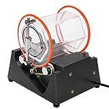 AYNEFY Pulidora Joyeria Magnetica, Rotary Tumbler Jewelry Polisher Machine Limpiador de Cuentas de Pulido de 5 Velocidad Temporizada Bidireccional Rotary para Joyas Piedras Rodillos de Pulido