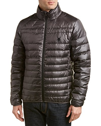 Spyder Men's Prymo Down Jacket, Polar/Black, X-Large