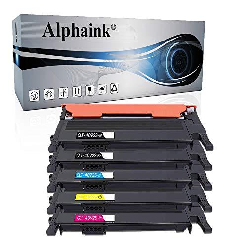 Alphaink 5 Toner Alphaink Compatibili con Samsung CLT-4092S per Samsung CLP-310 CLP-310N CLP-315 CLP-315W CLX-3170FN CLX-3175 CLX-3175FN CLX-3175FW CLX-3175N CLT-K4092S