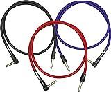 DiMarzio EP17J36SRRD - Cable efectos para instrumentos, color rojo
