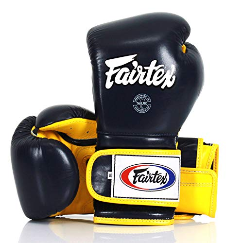 Fairtex Muay Thai BGV9 - Guantes de boxeo (530 ml), color azul...