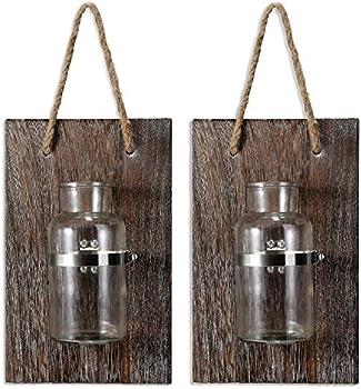 Docmon Farmhouse Decor-Rustic Mason Jar Vase