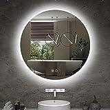 ISTRIPMF LED Bathroom Mirror 24 Inch Round Dimmable Mirror Lights with Anti-Fog ,Brightness Memory,3 Color Adjustable Bathroom Mirror