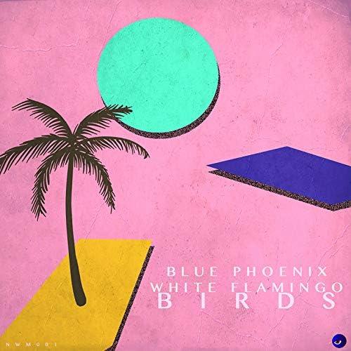 Blue Phoenix & White Flamingo