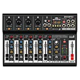 Italian Stage IS 2MIX6FXU - Mixer audio analogico stereo a 6 canali per...