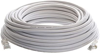 Cables4PC Cat5 RJ45 100' Patch Ethernet Network Cable, White (100FTCAT5WH)